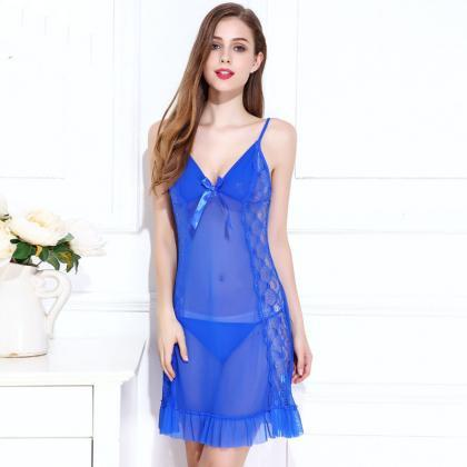 Sexy Sleeping Dress Nightgowns Slee..