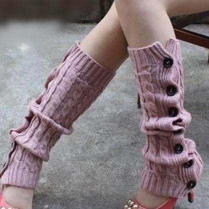 Winter Knitted Leg Warmers Accessor..