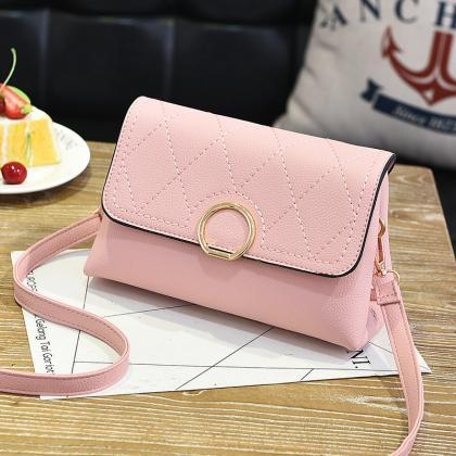 Fashion Small Purse Bag Leather Cro..