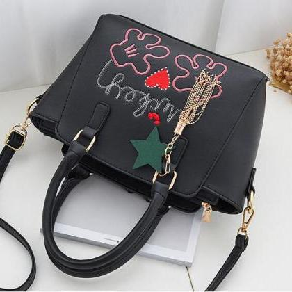 Flower Style Women Leather Cross Bo..