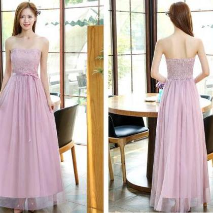 Beautiful Strapless Women Long Gauz..