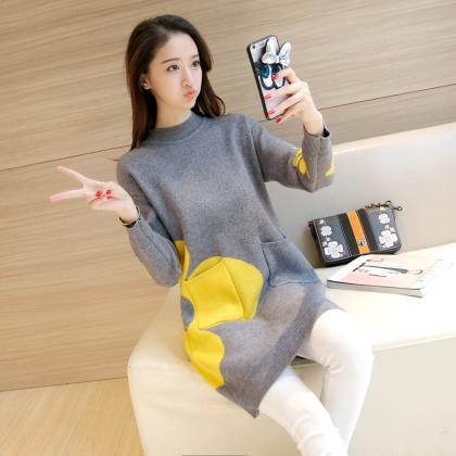 Women Sweaters Pullovers Long Sleev..