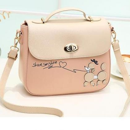 Sweet PU Leather Handbag Shoulder B..