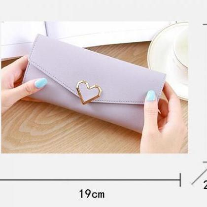 Heart Shaped Wallet PU Leather Car..