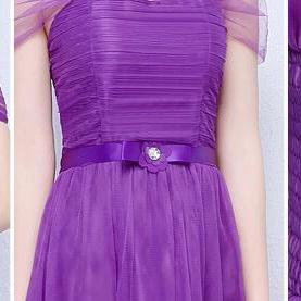 New Purple Color Sleeveless Long Br..