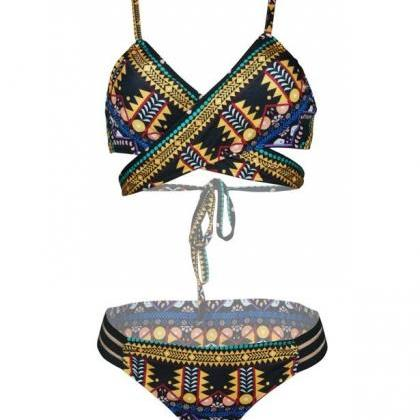 Fashion African Tribal Print Push U..