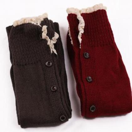 Women Warmer Knee High Knit Flat La..