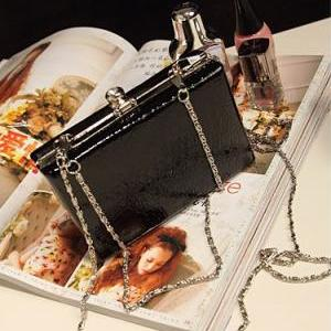 Mini Crocodile Design Clutch Bag-Bl..