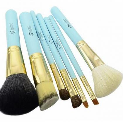 7pcs Blue Goat Makeup Brushes set