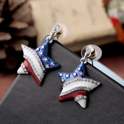Rhinestone Decorated Star Shape Des..