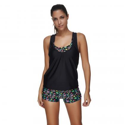 Bathers Swimsuit With Shorts Tankin..