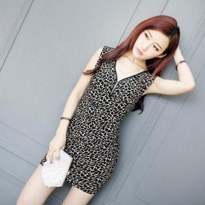 Free Shipping Sexy V-Neck Mini Dres..