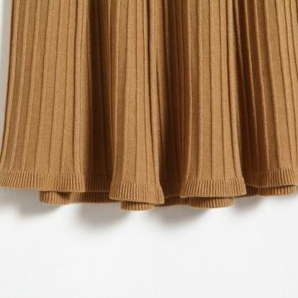Autumn Winter Long Knitted Skirts W..