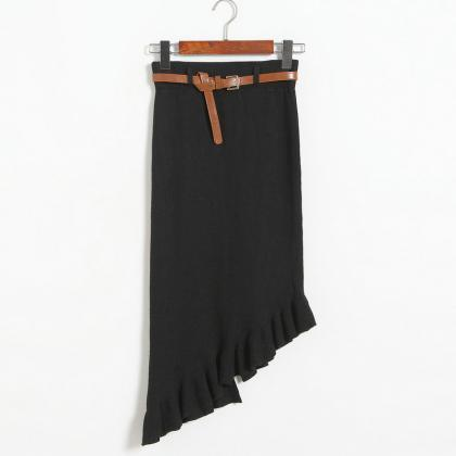 Autumn winter Skirts Womens Knitted..