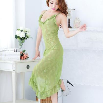 c0e062c8e84f Green Women s Sexy V Neck Sleeping Dress Nightgowns Sleepwear on Luulla
