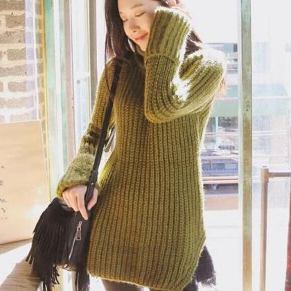 New fashion autumn sweater high col..