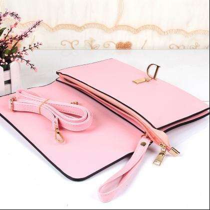 Women PU Leather Small Shoulder Han..