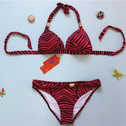 New Zebra Stripes Swimwear Swimsuit..