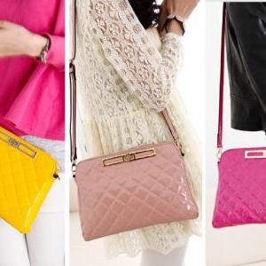 2013 New Fashion women Grid shoulde..