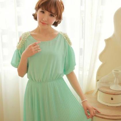 New Fashion Chiffon Beaded Pleated ..