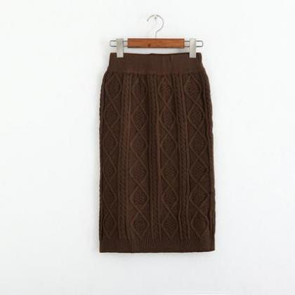 Autumn Winter High Waist Knitting S..