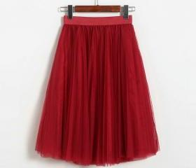 Pleated Midi Skirt S..