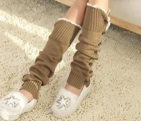 Women High Knit Flat..