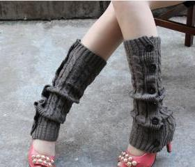 Winter Knitted Leg W..