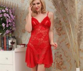 Women Red Sexy Linge..