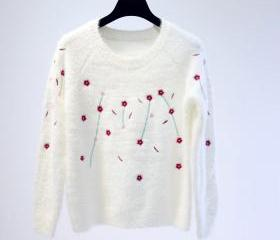 Floral Knitted Sweat..