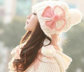 Cute Bow Winter Wome..