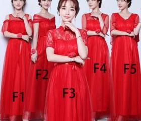 Women Red Color Long..