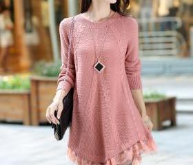 Round Neck Long Slee..