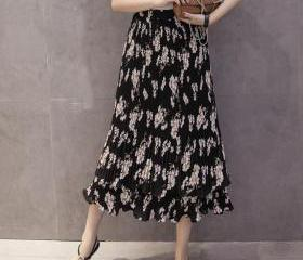 Floral Print Pleated..