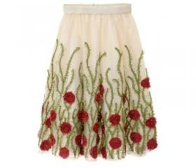 High Waist Flower Pr..