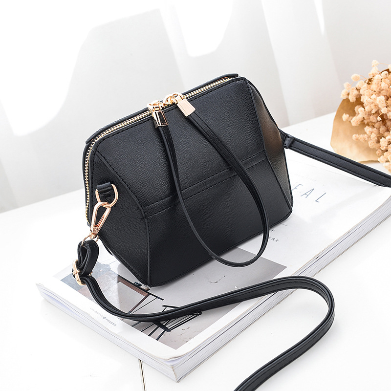 Women mini shoulder bag fashion female messenger bag mini crossbody Bags - Black