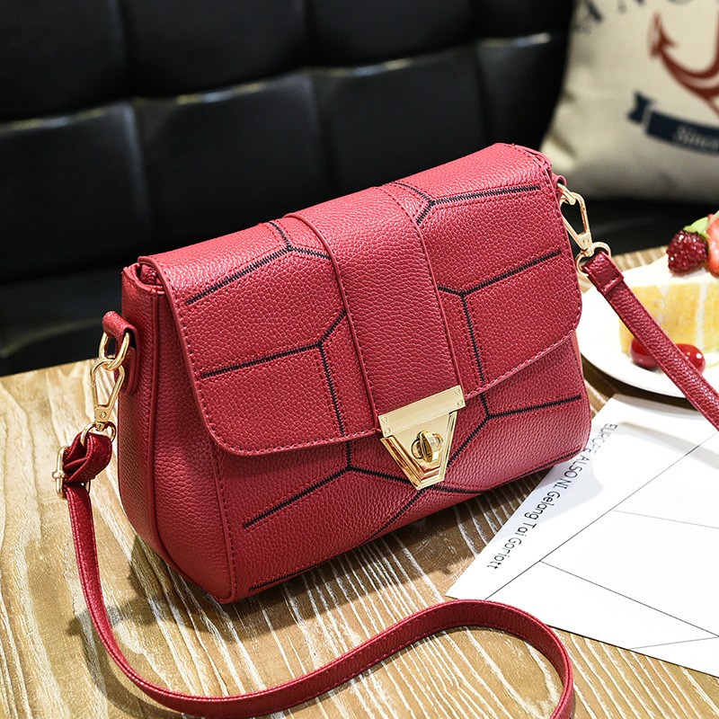 6b5d1c15a6c New Female Bag Crossbody Bag Fashion Shoulder Handbag - Wine Red