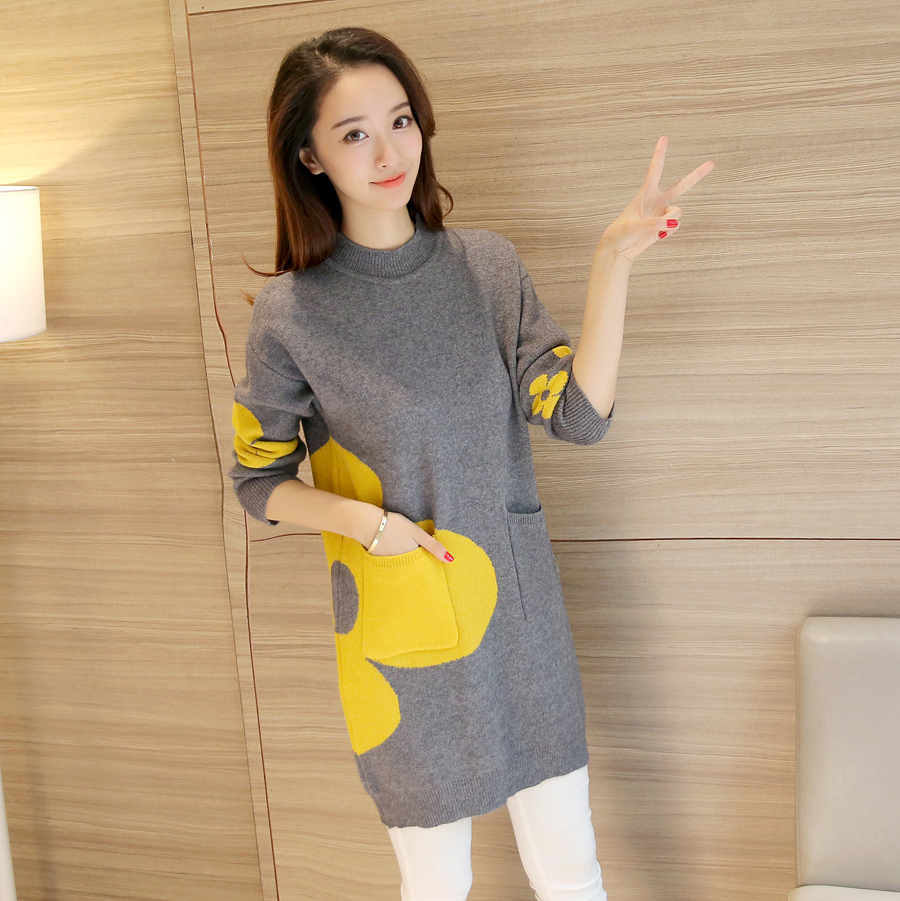 Women Sweaters Pullovers Long Sleeve Sweater - Grey