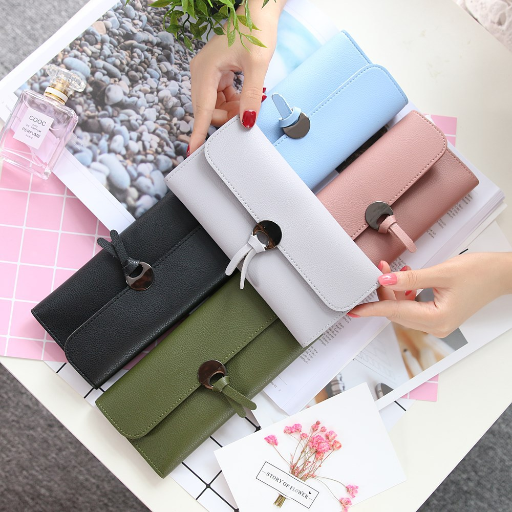 New Pu Leather Wallet Long Envelope Clutch Purse Card Holder