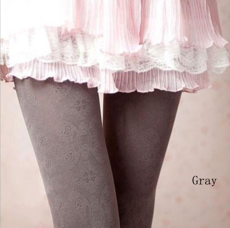 Retro Pantyhose Stockings for Women-Gray