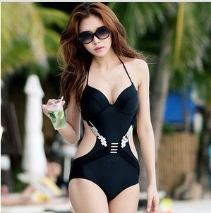 Bikini sexy Swimsuit Swimwear hollow one-piece bathing suit