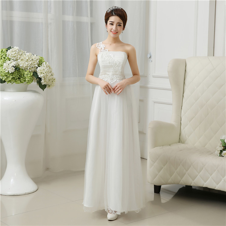 Beautiful 2015 One Shoulder Women's Evening Party Prom Bridesmaid Wedding Long Dress
