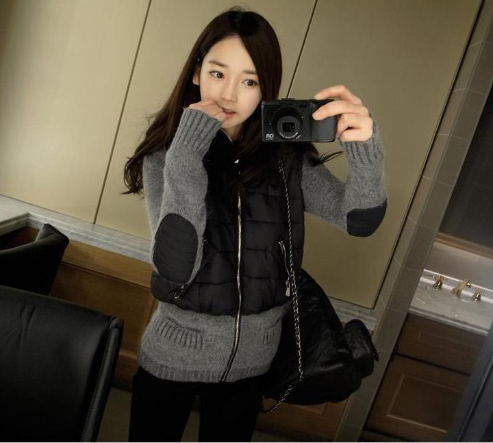 Autumn and winter warm knitted jacket sweater coat