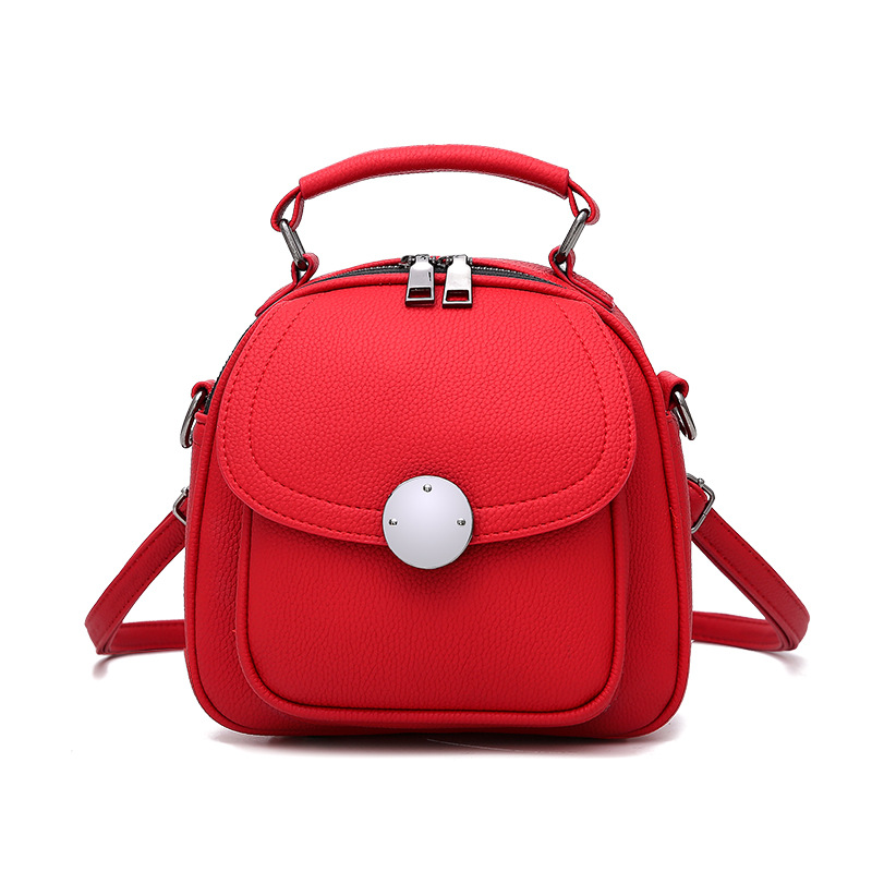 Cute Backpack Small Bag School Mini Girls Women Leather Shoulder Bag - Red 8c04cc5a14435