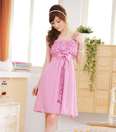New Summer Butterfly Chiffon Evening Dress Wedding Bridesmaid Dress