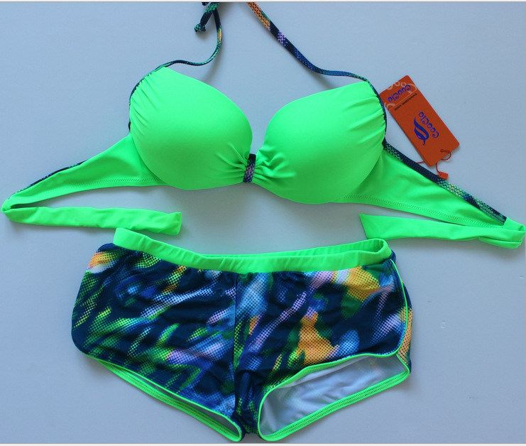 New Fashion Sexy Bikini Swimsuit For Lady - Green
