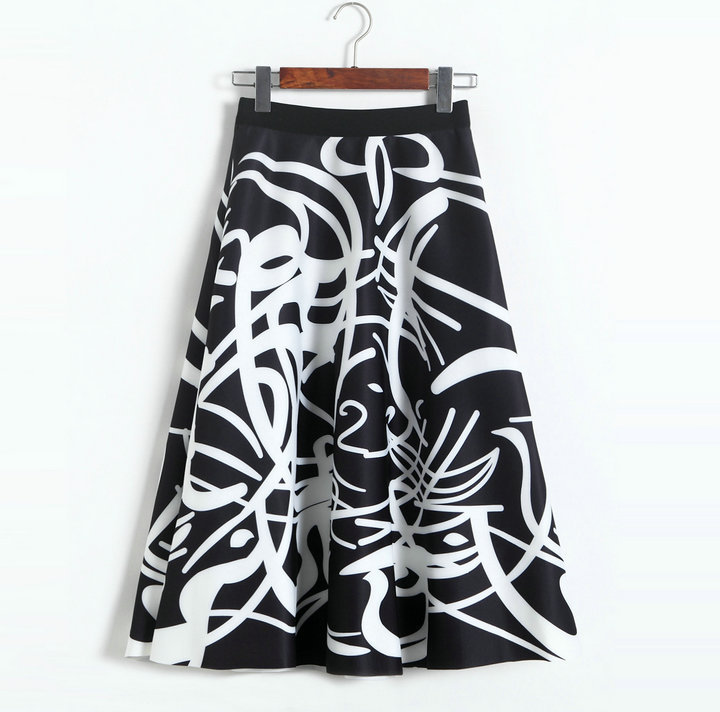 New space cotton printing A-line skirt