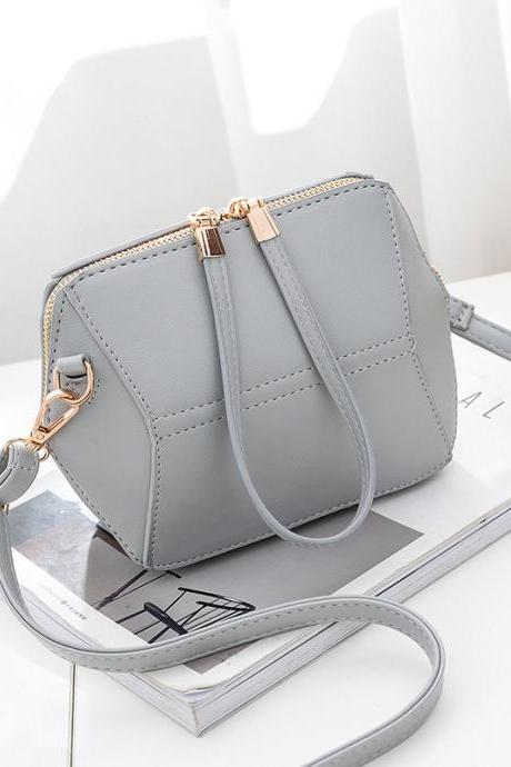 Women mini shoulder bag fashion female messenger bag mini crossbody Bags - Grey
