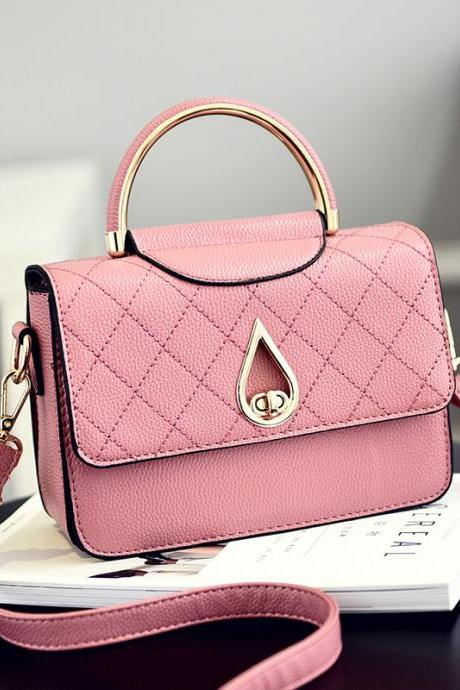 Women Shoulder Mini Bag New Leather Fashion Small Handbag - Pink