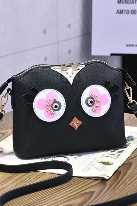 Women's Cute Mini Shoulder Bag - Black